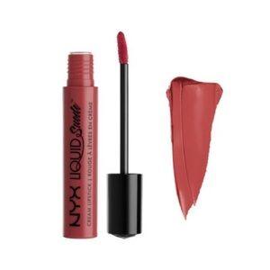 NYX liquid suede lip cream 04 soft-spoken NWT